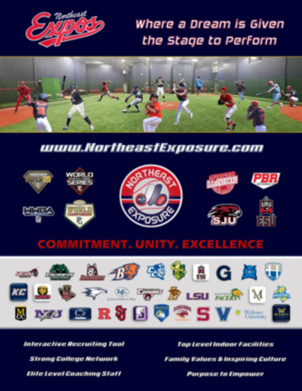 Northeast Exposure 2020 Baseball Program Brochure