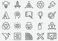 graphic-designer-line-icons-vector-id860