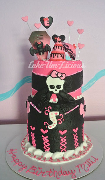 this cake is a butter cream cake with limited fondant decorations the ...