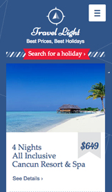 Travel Deals Landing Page