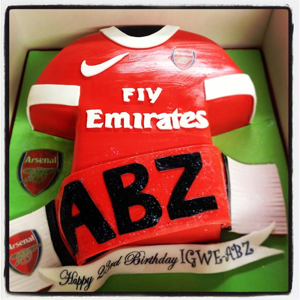 Arsenal Wedding Cake