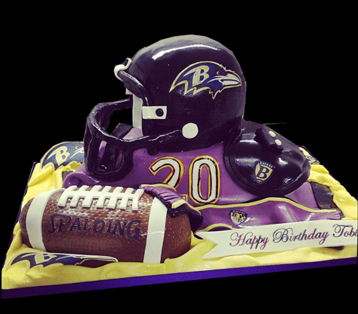 Baltimore Ravens Birthday Cake