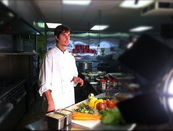 Brendan at the Thrive Foods Direct kitchen