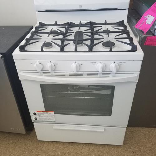 kenmore 5 burner gas stove white brand new
