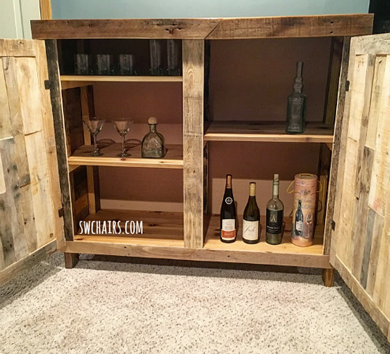 Rustic Liquor Cabinet   Cabin