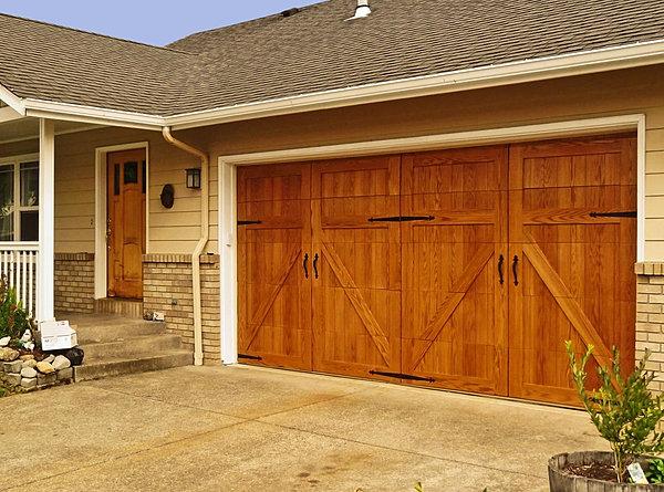 Garageskins real wood garage door overlays for Garage door wood overlay