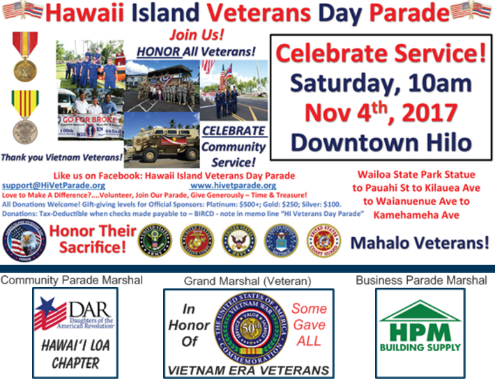 veterans day parade 2017 dar