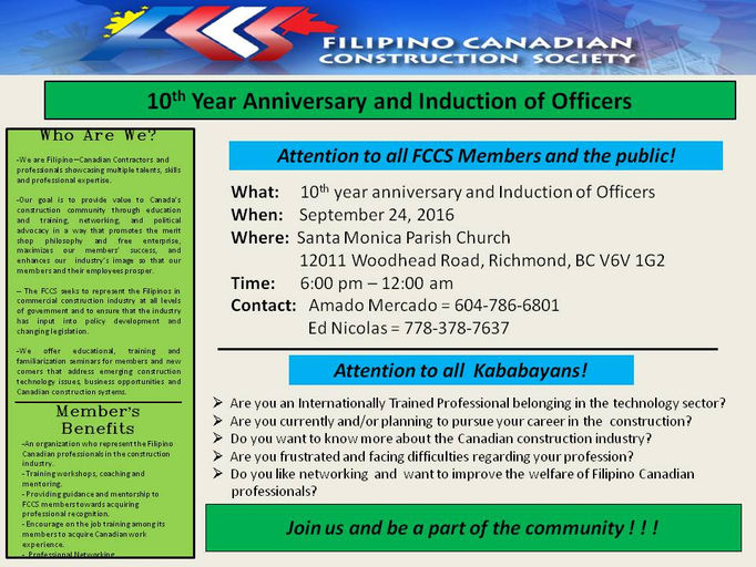 Architects Engineers Filipino Canadian Construction Society Wix