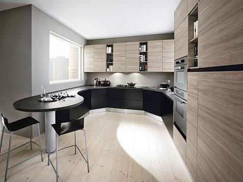 cuisine beige laque cuisine noir laque et bois decoratione tk - Cuisine Beige Et Noir