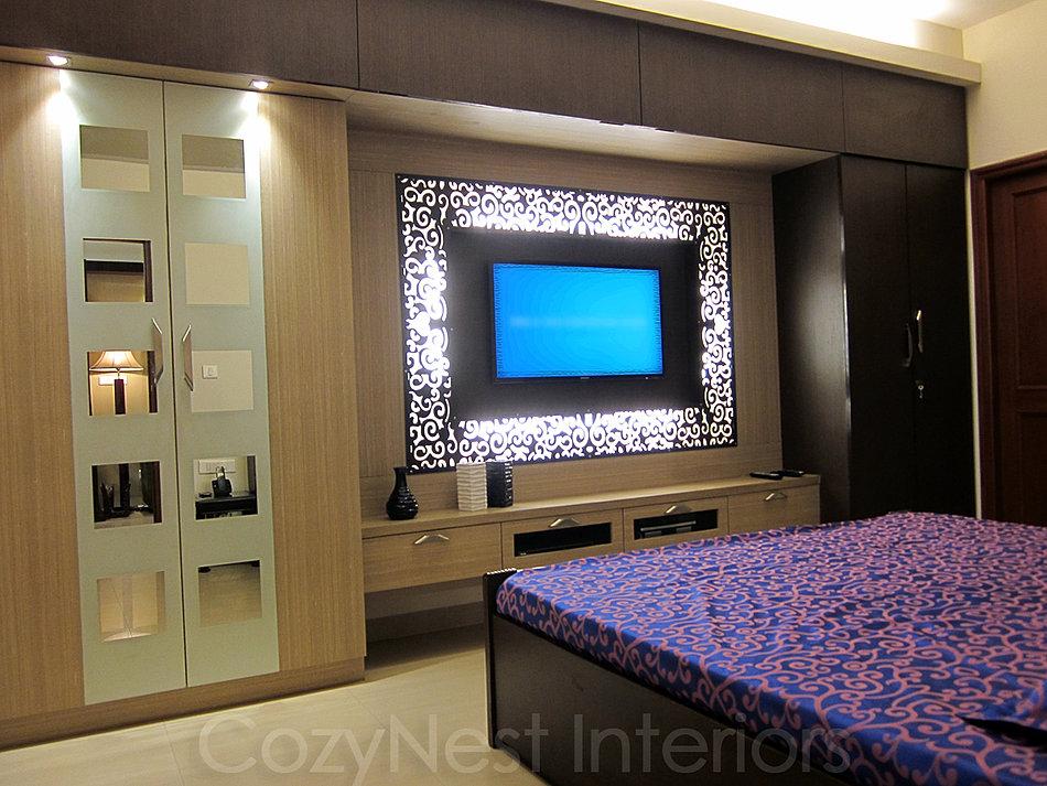 bedroom wardrobe designs with tv unit 2