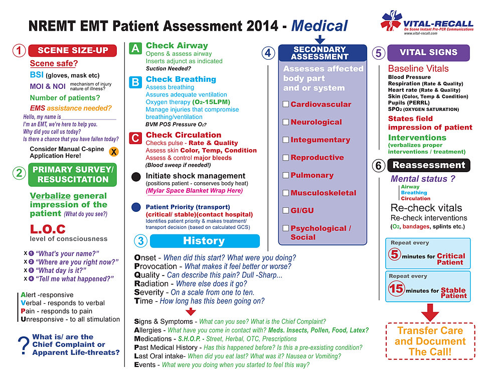 Vital-Recall.com - EMS Pocket PCRs & On Scene Vital-Info Stickers
