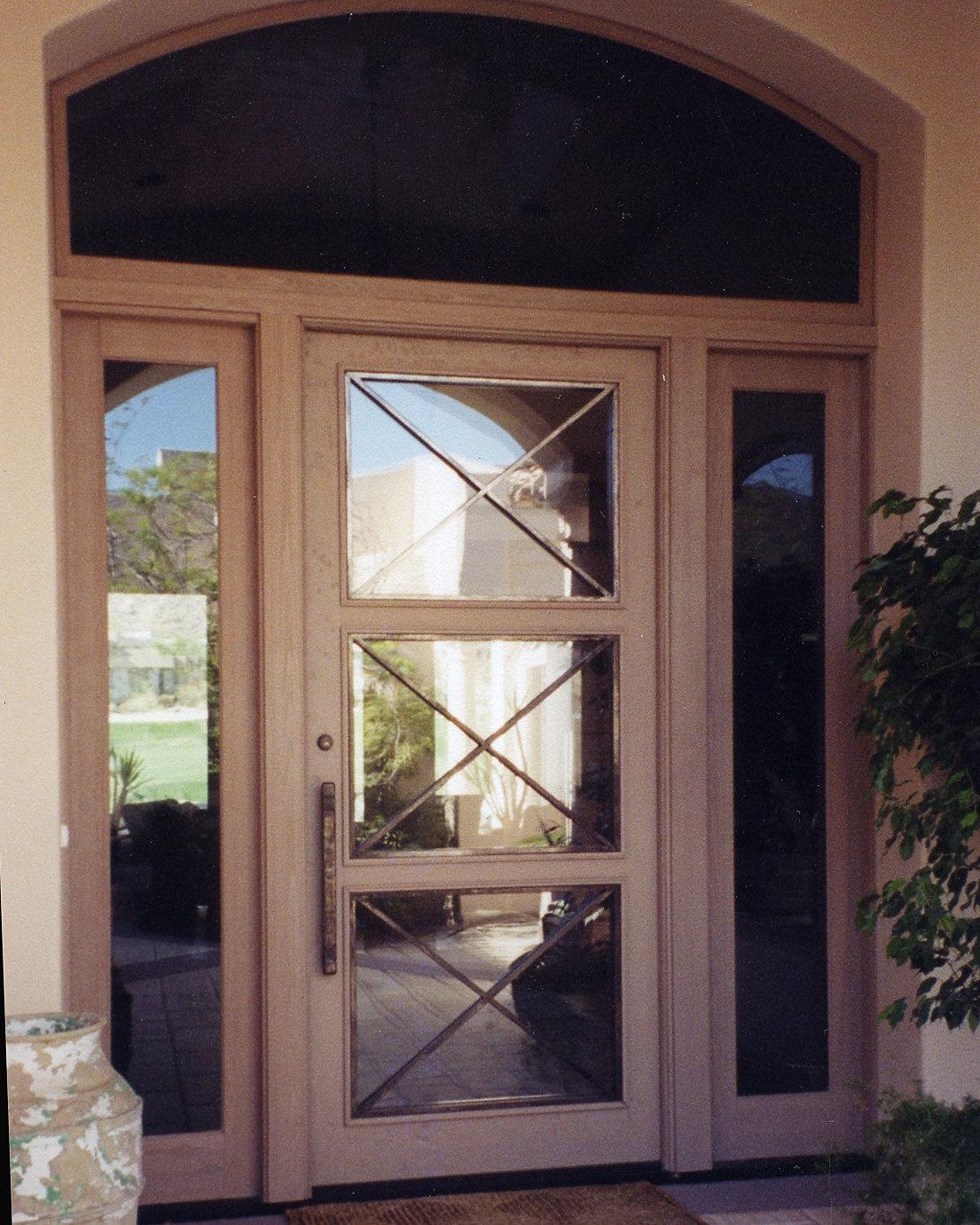 B Q Door Glass
