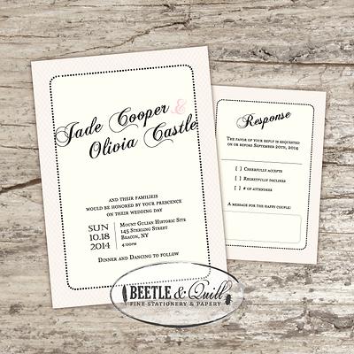 Handcrafted Wedding Invitations Barrie Ontario