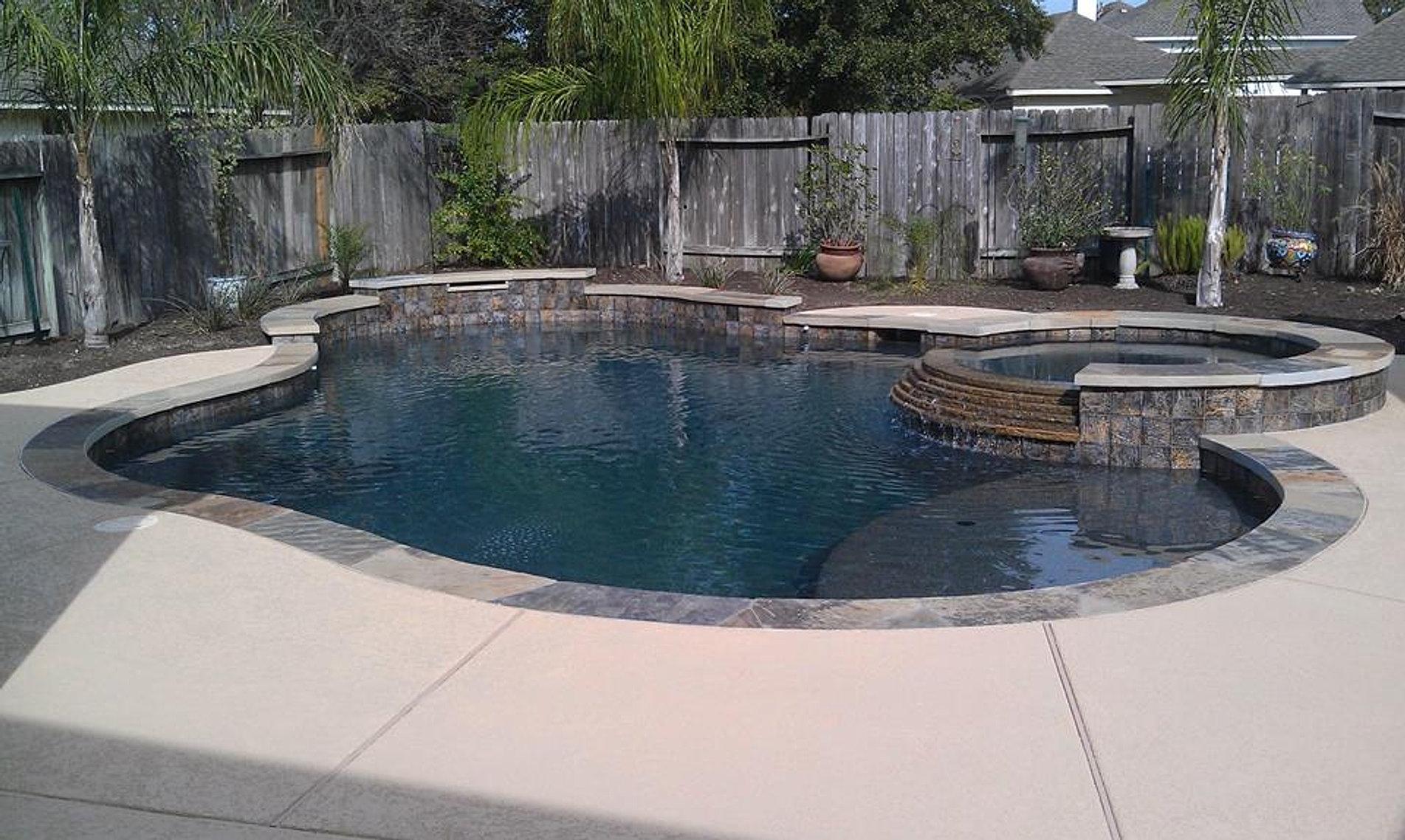 Swimming Pool Spray Deck : Houston pool builders ocean blue pools spray deck