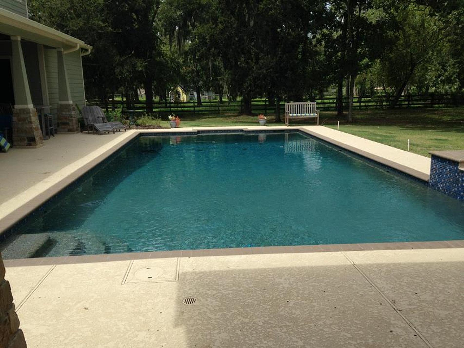 Houston Pool Builders Ocean Blue Pools Spray Deck