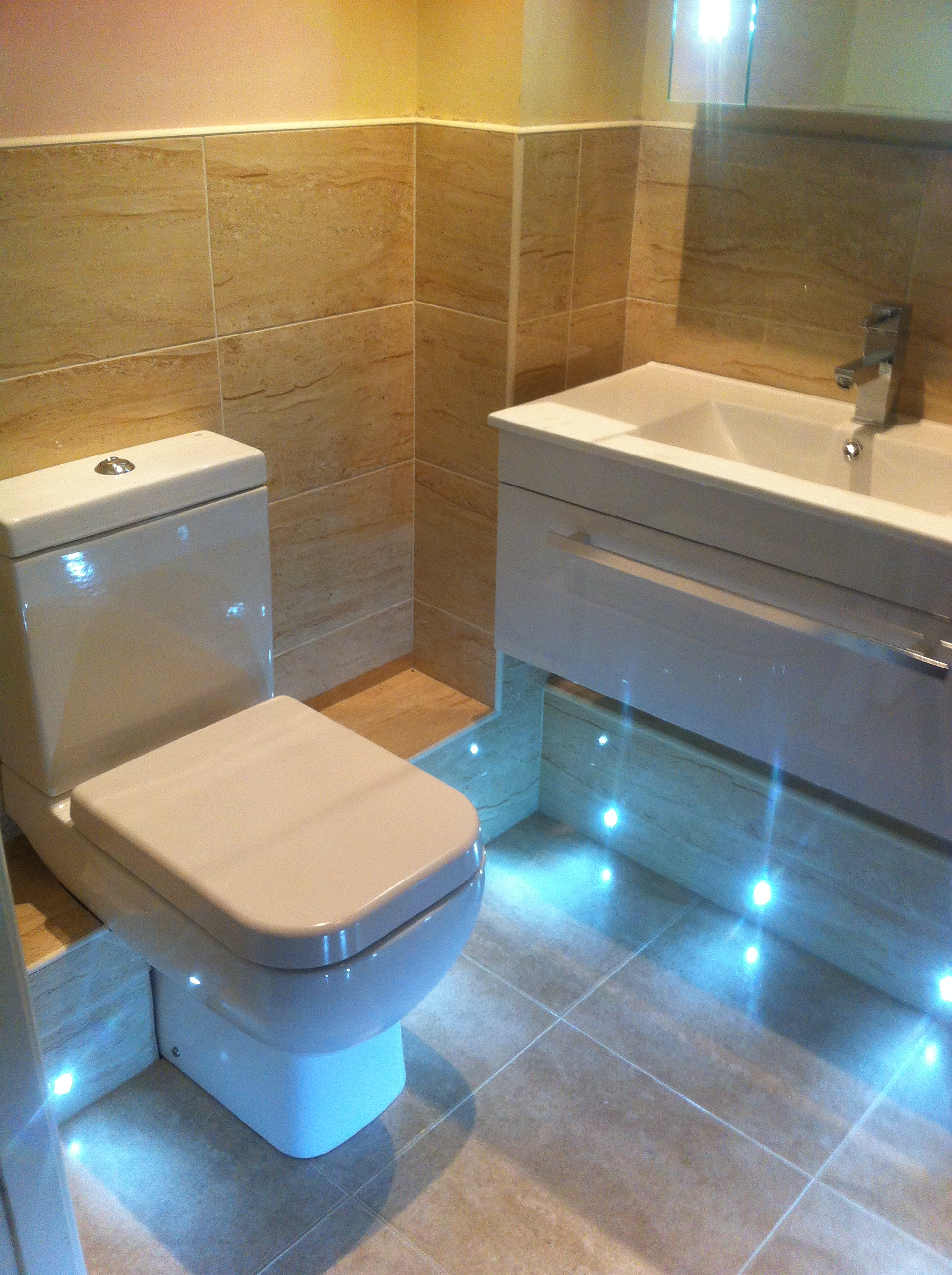 This weeks Project - New shower room with LED lighting! | Bathroom ...