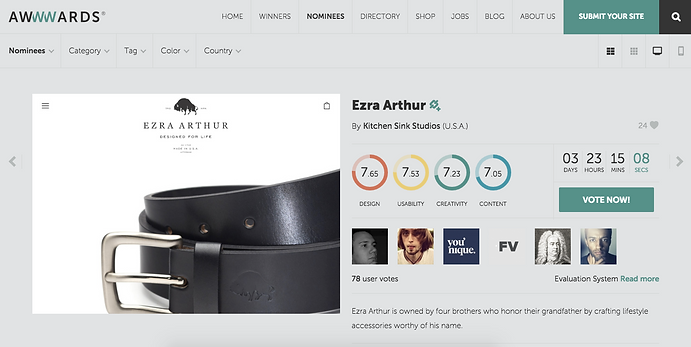 Websites Are All Starting To Look The Same, But The Simplicity And Style Of Kitchen  Sink Studios Latest Work For Ezra Goods Is Well, Very Good.