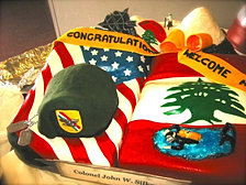Army Promotion Cake