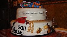 graduation cake, Gators cake