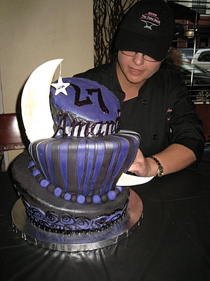 Topsy Turvy Moon cake