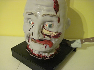 Halloween head cake