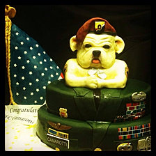 Army (Bulldog) Retirement Cake
