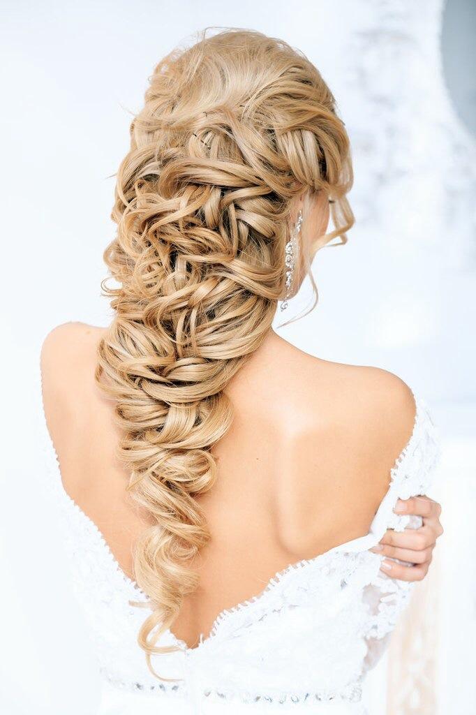 свадебные прически на длинные волосы фото цены
