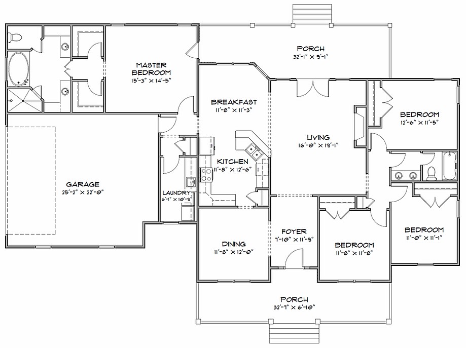 Home plan sc 2081 for Cox plans