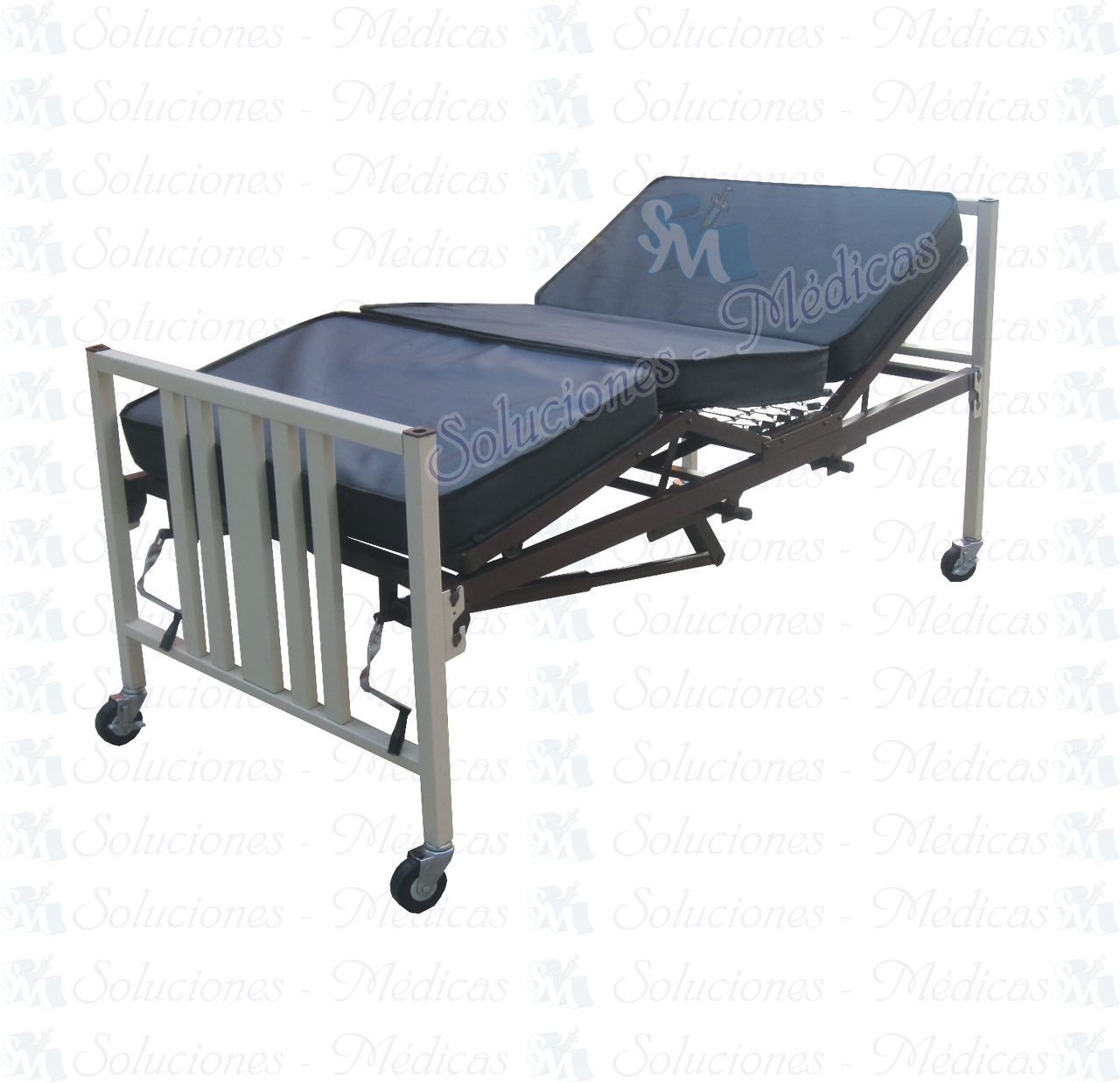 Cama de hospital manual con ruedas mod mmcam02 venta m dica for Sillas para hospital
