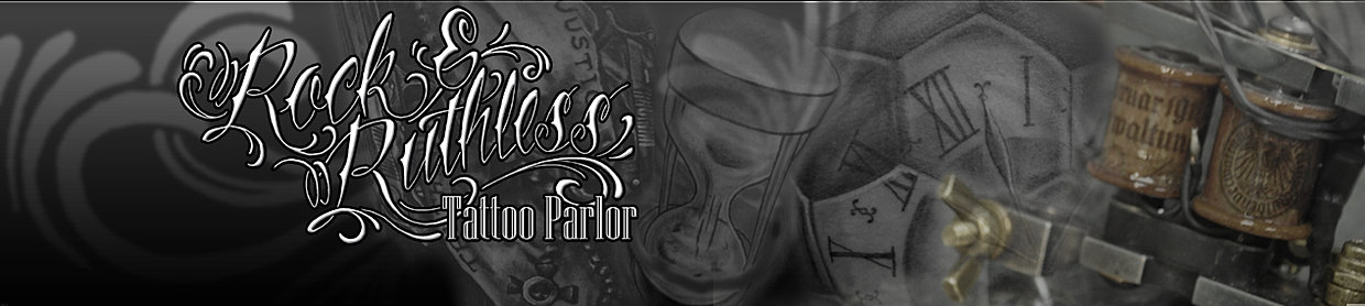 Rock and Ruthless Tattoo Parlor website Banner