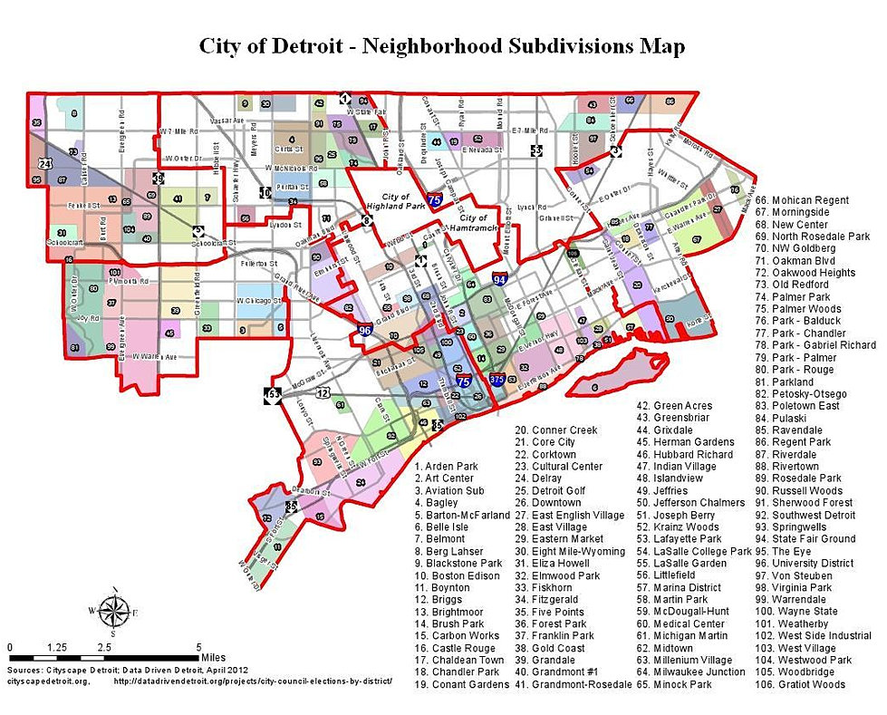Detroit Neighborhood Map