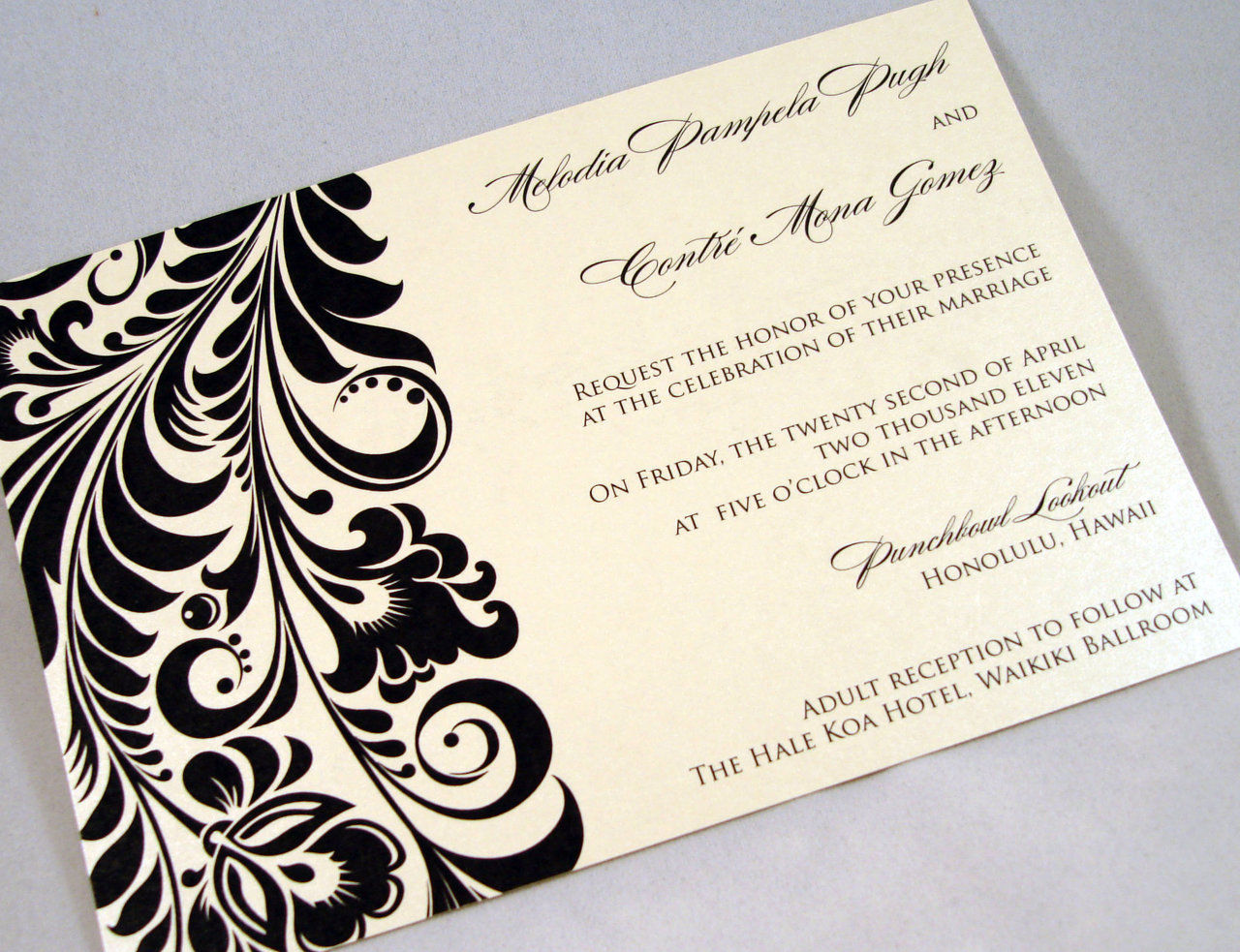 Dripping With Ink Designs Custom Wedding Invitations and