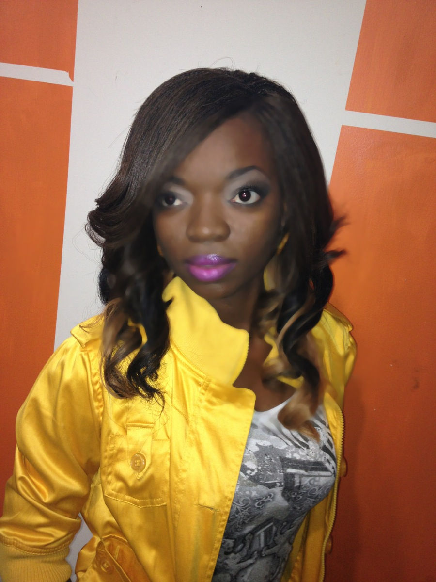 """GBRAIDS Urban Beauty Human Hair Yaki Straight #1B, #4 #30, #27 18"""" Tree Braids i.e cornrows Method and 2 rows Individual frontal section only and everything is cornrows)"""