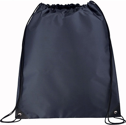 Navy Blue Drawstring Bag