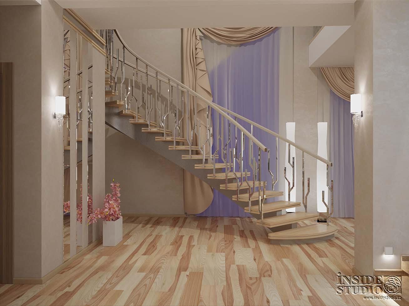 Лестница в коридоре фото