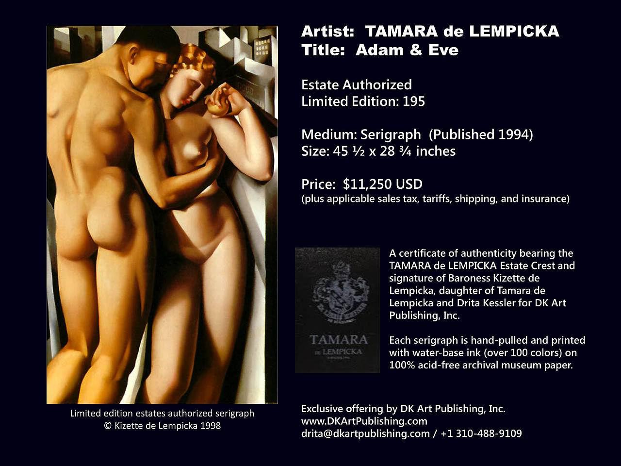 Lempicka Adam And Eve Lempicka Adam And Eve
