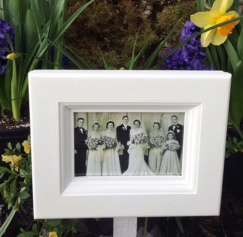 pure white outdoor picture frame