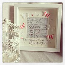 personalised 3d wedding frame