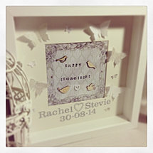 personalised 3d wedding frame