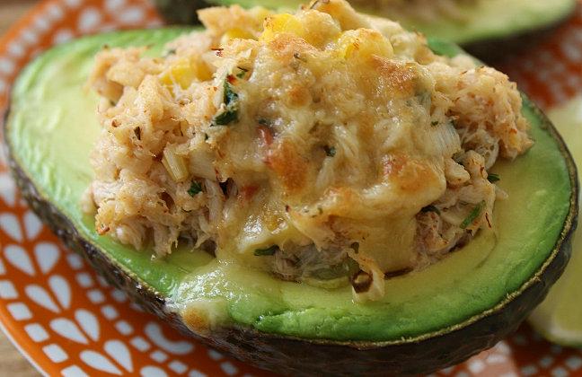 Kim's Cookology | Baked Seafood Stuffed Avocado