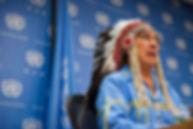 Wilton Littlechild (Cree, Canada)https://www.unmultimedia.org/s/photo/detail/601/0601515.html