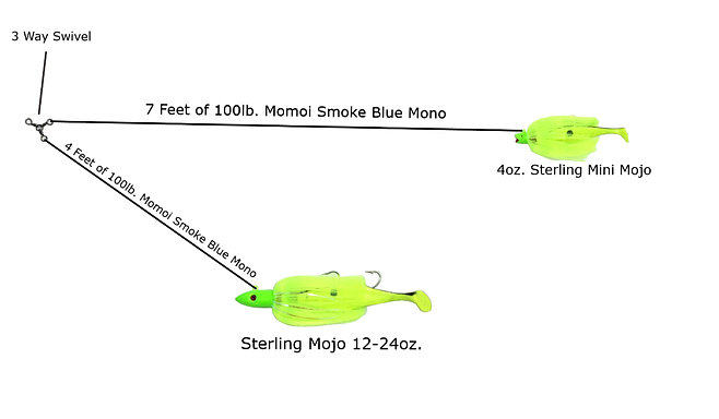 Sterling tackle striped bass lures for Mojo fishing lures