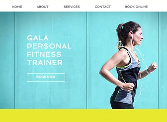 Personal Trainer Template - An energetic and bold website template aimed to inspire and motivate. The vibrant images and dynamic layout make this the perfect eye-catching template for anyone wishing to attract and engage new clients. Customers can easily browse your services and book a one-on-one session with you via the Wix Bookings appointment booking system. Simply add the services you wish to offer and watch as clients start to book their workouts with you!