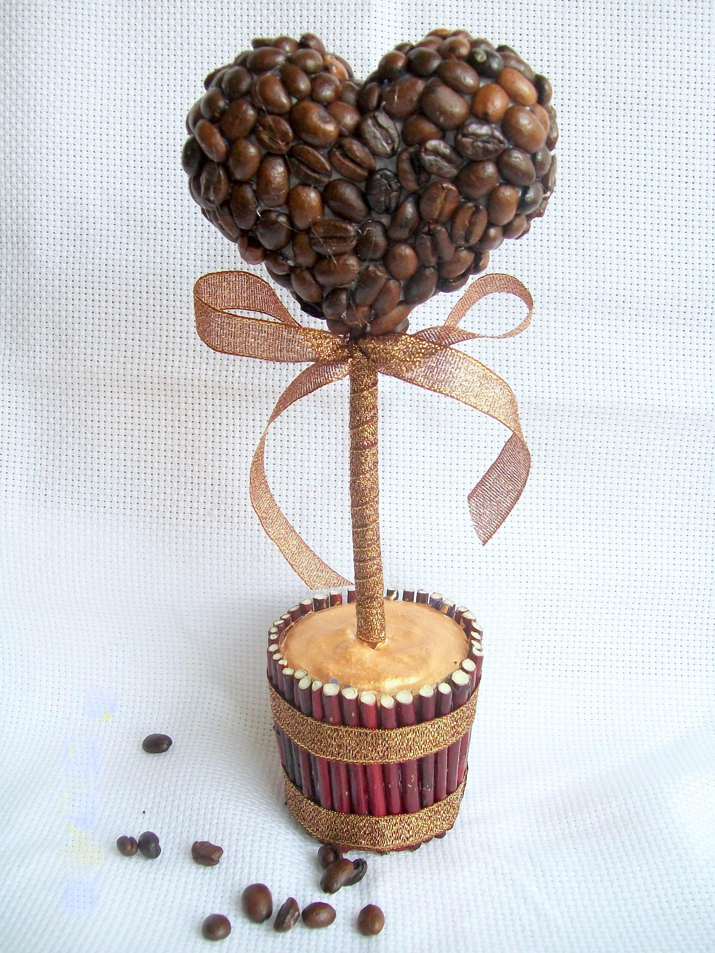 Детские поделки из кофейных зерен своими руками