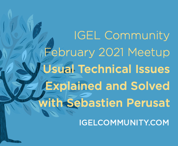 IGEL Community February 2021 Meetup - Usual Technical Issues Explained and Solved!