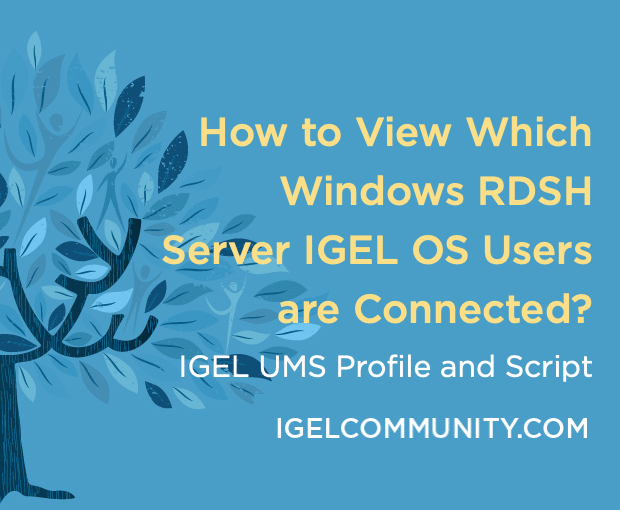 How to View Which Windows RDSH Server IGEL OS Users are Connected?