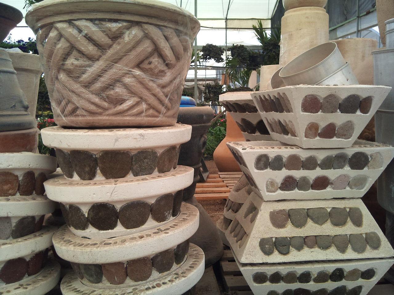 Viveros rancho calderon accesorios - Macetas de piedra para jardin ...