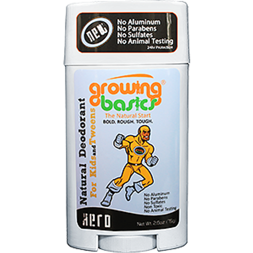 growingbasics kids deodorant for girls and boys ages 613