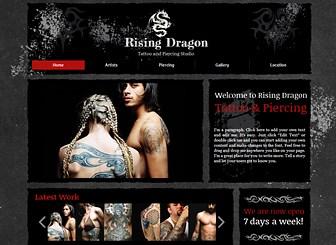Tätowierer Template - Drücken Sie die Atmosphäre Ihres Tattoo- oder Piercing-Studios mit den dunklen Farben und dem düsteren Design dieser Homepage-Vorlage aus. Fügen Sie Text und Bilder hinzu, um Ihre Leistungen zu bewerben und einzigartige Designs vorzustellen. Erstellen Sie eine individuelle Website, die zu Ihrem Studio passt!