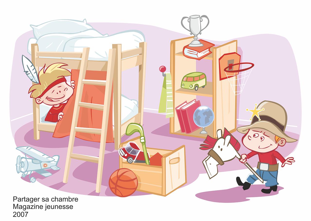 Book illustrateur freelance bambins - Dessin chambre enfant ...